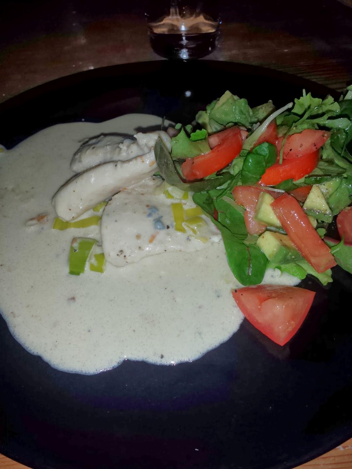 Kyckling med gorgonzolasås
